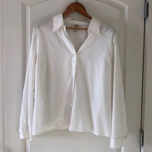 Talbot white cotton blouse
